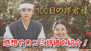 100日の郎君様 感想 面白い つまらない 字幕 ひどい 口コミ 評価